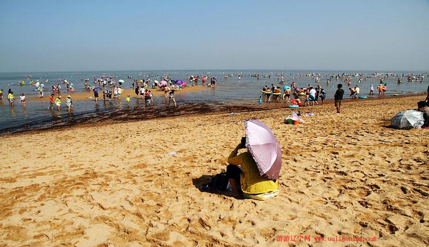 白沙湾黄金海岸浴场_营口自然风景_游游辽宁网